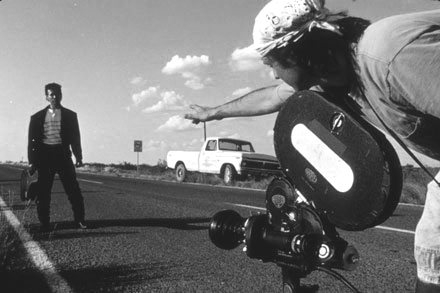 Robert Rodriguez filming El Mariachi